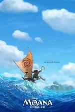 Moana Movie Poster (24x36) - Dwayne Johnson, Auli'i Cravalho