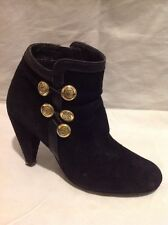 Oasis Black Ankle Suede Boots Size 39