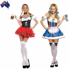 German Oktoberfest Beer Girl Costume Octoberfest Bavarian Wench Maid Fancy Dress