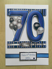 Hand-Made Male 70th Birthday Card -Can be Personalised