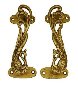 Peacock Design Antique Victorian Style Brass Handcrafted Door Pull Handle Knob