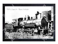 Historic Mud Bay Logging Co. - Olympia, Washington Train Postcard