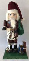 "Vintage Nutcracker Old World Santa 16"" Handcrafted Nutcracker Village 1997"