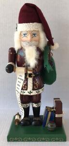 "Vintage Nutcracker Old World Santa 16"" Handcrafted Nutcracker Village 1997"