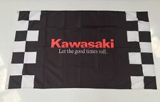Kawasaki Style 2 Banner Flag - Motorbike Motor Cycle Bike Dirt Road Team Ninja