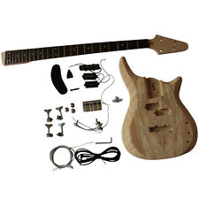 GD901 Bass Guitar Kit 4 Strings Ash wood Body With spalted maple veneer Luthier