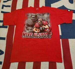 Vintage Starter 1997 Red Tampa Bay Buccaneers Mike Alstott T Shirt NFL L