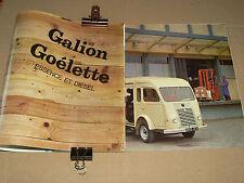 Catalogue Camion RENAULT GALION GOELETTE  1965  brochure prospectus truck LKW