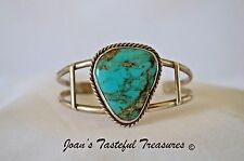 Sterling Silver & Turquoise Open Style Cuff Bracelet
