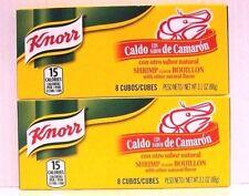Pk 2 of Knorr 8 Bouillon Cube-Shrimp Flavor 3.1 oz/pk-Total 16Cube Caldo Camaron