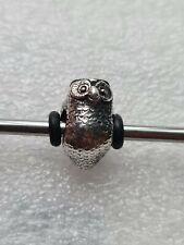 Trollbeads silver beads owl bead retired
