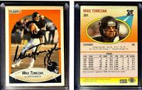 Mike Tomczak Signed 1990 Fleer #301 Card Chicago Bears Auto Autograph