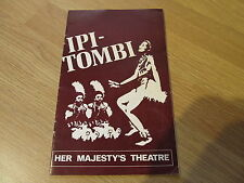 FAB! Ipi-Tombi Programme Her Majestys Theatre 1976 Agatha Christie Mousetrap Ad