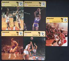1979 Sportscaster Basketball Lot Of 5 Cards West, Jabbar, Frazier,Barry,McGinnis