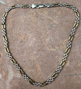 Vintage sterling silver deco style necklace marked 925