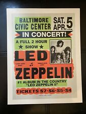 Led Zeppelin Plant Page Vintage Poster Reproduction