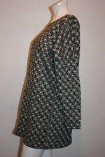 ZARA W/B COLLECTION LONG SLEEVE TUNIC BLACK/WHITE MADE IN MOROCCO SIZE S