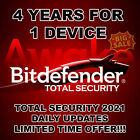 Bitdefender Total Security 2021 4 Years Single Device Activation Genuine Global