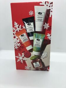 NIB Origins 5 Star Faves Gift Set, with Ginzing, Modern Friction,Drink Up Mask