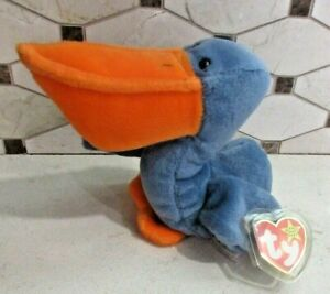 Ty Beanie Baby Scoop the Pelican DOB July 1, 1996 MWMT Free Shipping