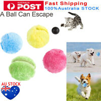 4Pc Dog Cat Automatic Roller Ball Toy Plush Motion Activated Pet Interactive Toy