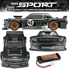 NEW HPI 1/10 RS4 SPORT3 '65 Mustang Hoonicorn Car RTR w/Battery  FREE US SHIP