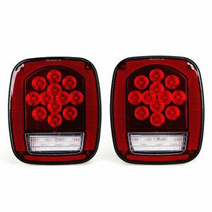 39 LED Rear Lamp Tailgate Turn Signal Brake Light for Car Truck 2pcs