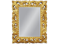 Espejo de pared antigua Barroco Repro EN DORADO Glamour 100x80 cm NUEVO woe