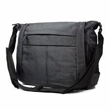 Mens Messenger Shoulder Bag Poly School Travel Water Resist Laptop Tablet Case