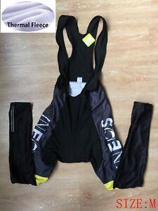 Mens Team Cycling Tights Winter Thermal Fleece Bib pants Bicycle Leggings Size M