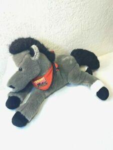 Wells Fargo Horse Plush Gray Red 1852 Scarf Black Feet Stuffed Animal
