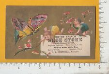 8902 D. M. Corthell Boston Branch Shoe Store trade card New Haven Meriden, CT