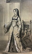 Reine Anne de Bretagne épouse Roi Louis XII héliogravure XIXe France