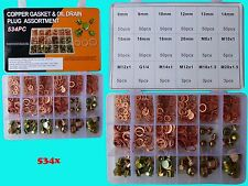 534 Kupferringe und Schrauben Sortiment Dichtringe Dichungstringe Ölablass Box