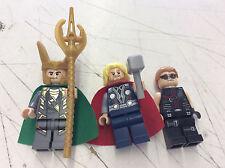 Lego Marvel Super Heroes  Minifigure Lot From 6868 Set Thor Loki Hawkeye! Pics!