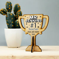 Best Teacher Personalised Thank You Gift #1 Teaching Assistant Wooden Trophy
