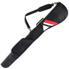 Waterproof Sunday Bag Golf Clubs Case Foldable Carry Bag Lightweight Black & Red