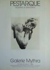 Affiche exposition Pestarque, galerie Mythra Paris 1990.