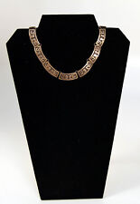 """Taxco Sterling Silver Overlay Choker Necklace c.1940 15"""""""