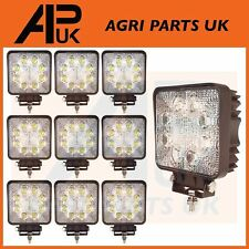 10 LED Work Lights Lamp 24W Flood Beam 12-24V Digger Tractor Jeep SUV Quad Lorry