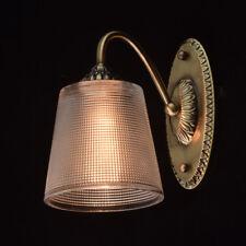 Applique vintage in metallo colore ottone a braccio diffusore in vetro 1*40W