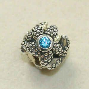 NEW AUTHENTIC PANDORA CHARM SEA STAR TURQUOISE 791163SST W SUEDE POUCH