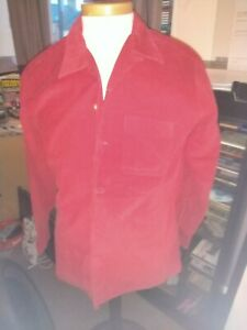BUDDY HOLLYS RED CORDUROY SHIRT WITH  CERTIFICATE OF AUTHENTICITY