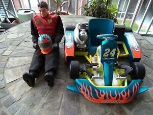 "Jeff Gordon 24 Freestyle Race Kart Team Edge R/C  27MHz 18"" Cart 17""Fig"