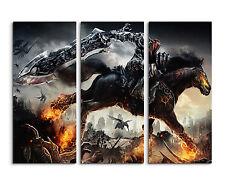 130x90cm - Darksiders War Riders With Sword Wandbild auf Leinwand Keilrahmen
