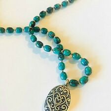 Most Natural Turquoise Necklace with Stunning Silver