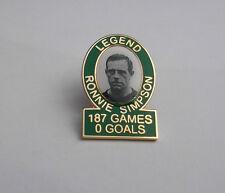 Celtic Legend badge Ronnie Simpson