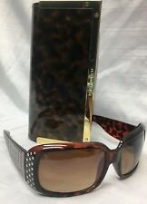 89bb926c68344 Vintage GIANNI VERSACE Tortoise Greek Key Women s Sunglasses w Tory Burch  Case