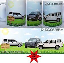 DISCOVERY MUG, 4x4 Thee Discos on a ceramic mug. Can be a personalised mug