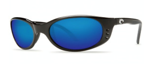 Costa Del Mar Stringer Polarized Sunglasses 580G Black/Blue Mirror Glass Small